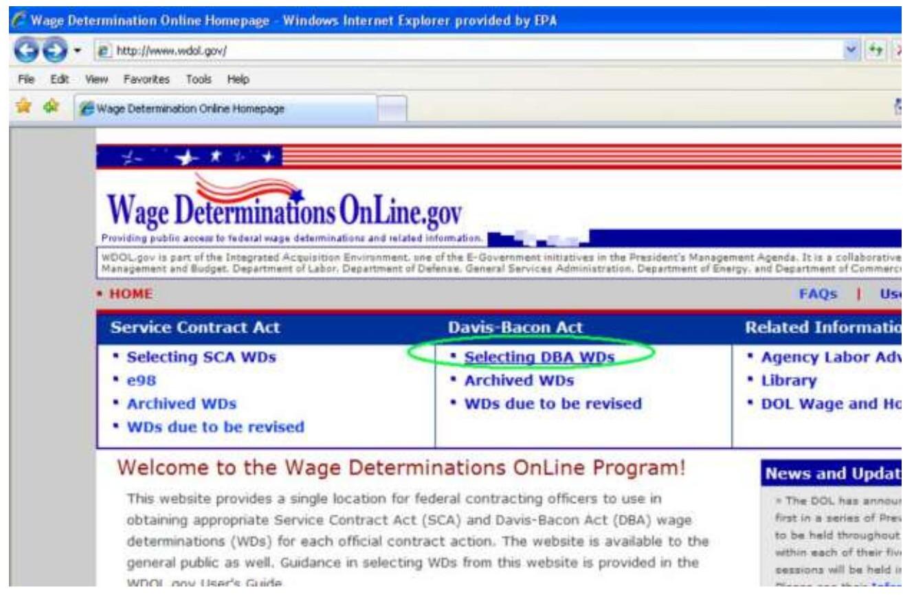 DBA Wage Determination