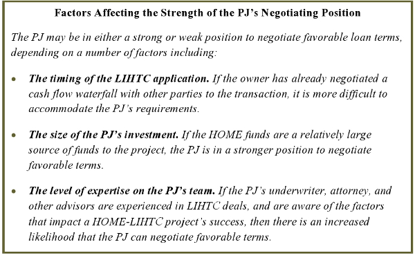 Factors Affecting the Strength of the PJ's Negotiating Position